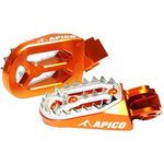 _Reposes-pieds Enduro Apico Pro-bite KTM EXC 98-16 SX-F 06-15 Husqvarna TE/FE 14-16 TC/FC 14-15 Orange | AP-FPROKTMOR | Greenland MX_