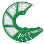 _Protecteur Disque Avant Acerbis X-Brake 2.0 Vented Vert/Blanc | 0021846.130 | Greenland MX_