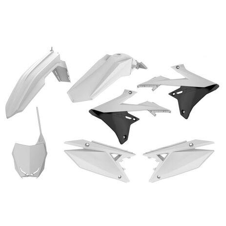 _Kit Plastiques Polisport Suzuki RMZ 450 18 Blanc   90764   Greenland MX_