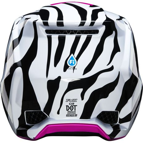_Casque Fox V3 Zebra Limited Edition | 23659-559 | Greenland MX_