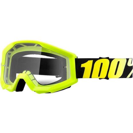 _Lunettes 100% Strata Neon Jaune Fluor | 50400-004-02 | Greenland MX_