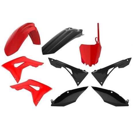 _Kit Plastiques Polisport Honda CRF 250 R 18-19 CRF 450 R 17-19 Rouge/Noir | 90833 | Greenland MX_