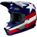 _Casque Fox V1 Regl SE Blanc/Rouge/Bleu | 24276-574 | Greenland MX_
