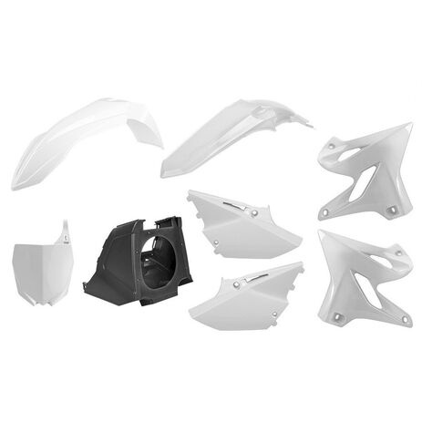 _Kit Plastiques Polisport MX Restyling Yamaha YZ 125/250 02-14 à 15-18 Blanc | 90717 | Greenland MX_