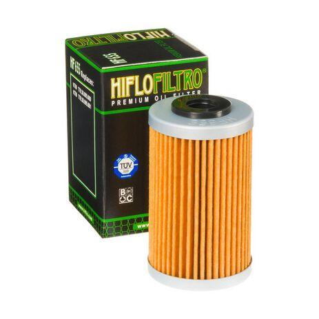 _Filtre a huile hiflofiltro KTM EXC-F 250 07-13 SX-F 250 06-12 Husaberg FE 390 10-12 FE 450 09-14 | HF655 | Greenland MX_