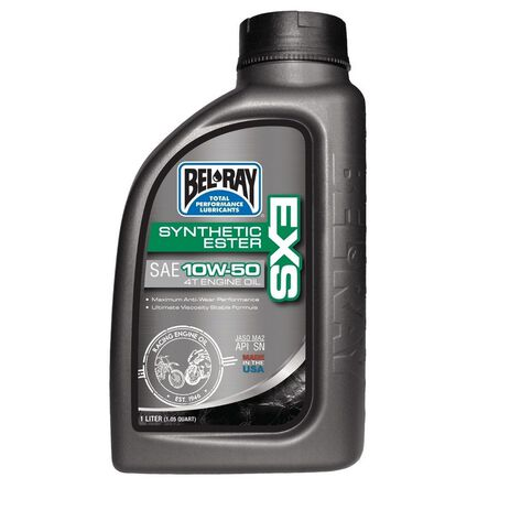 _Huile Bel Ray EXS Full Synthetic Ester 4T 10W50 1 Litre   99160-B1LW   Greenland MX_