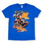 _T-shirt Jorge Prado Action Bleu | JP61-200BL | Greenland MX_