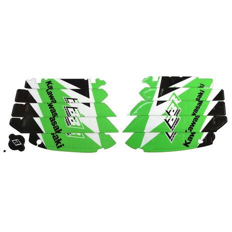 _Kit deco grilles de radiateu Blackbird Kawasaki KX 250 F 09-16 | A402E | Greenland MX_