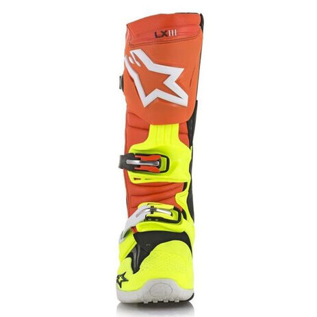 _Bottes Alpinestars Tech 10 Orange/Jaune Fluor/Bleu | 2010014-475 | Greenland MX_