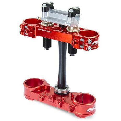 _Té De Fourche Neken SFS Honda CRF 250 R 18 CRF 450 R 17-18 (Offset 22mm) Rouge | 0603-0750 | Greenland MX_