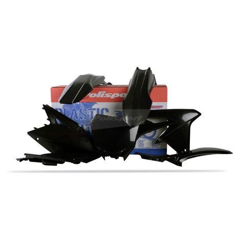 _Kit Plastiques Polisport Suzuki RMZ 450 08-17 Noir | 90146 | Greenland MX_