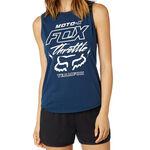 _Débardeur Femme Fox Throttle Maniac Muscle Bleu | 21052-202-P | Greenland MX_