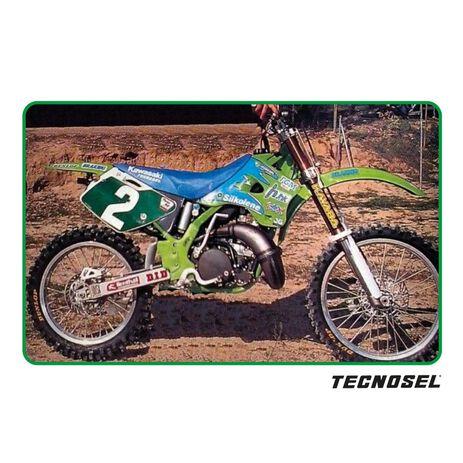 _Kit Deco + Housse de Selle Tecnosel Replica Team Kawasaki 1996 KX 125/250 94-98   84V01   Greenland MX_